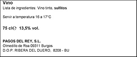 Altos de Tamaron Ribera Del Duero Crianza 2014 Vino Pinto, 750ml