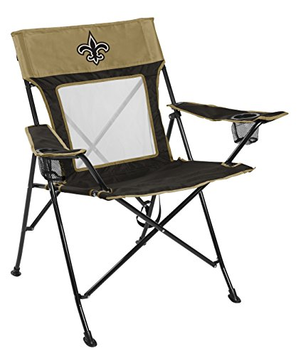 Rawlings NFL New Orleans Saints Unisex LP0065NFL Game Changer Chair, Black, - Tailgating Chair Tailgate Folding
