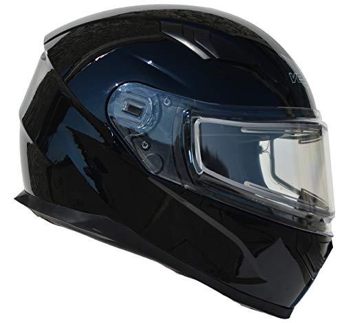 Vega Helmets Ultra Electric Snow Unisex-Adult Full Face Snowmobile Helmet with Heated Shield (Gloss Black, Large) ()
