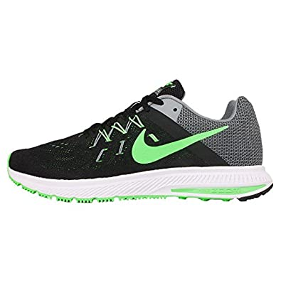 5f89a840367b ... clearance nike mens zoom winflo 2 black green strike cool grey white  25e7b 32786 france running shoes. ...