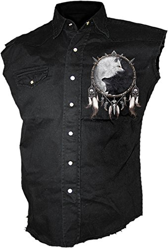 Spiral - Mens - WOLF CHI - Sleeveless Stone Washed Worker Black