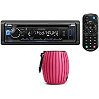 Kenwood KDC-MP368BT Car Single DIN In-Dash CD MP3 Stereo Receiver USB AUX Inputs Buit-in Bluetooth Dual Phone Connection iPod iPhone Control AM FM Radio Player w/ FREE Philips SBT30 Bluetooth Speaker