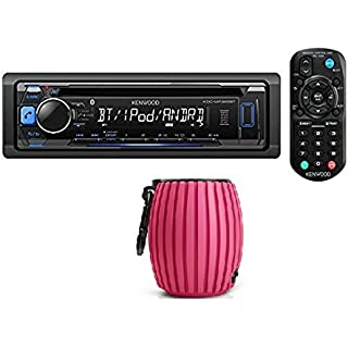 Kenwood KDC-MP372BT Car Single DIN In-Dash CD MP3 Stereo Receiver USB AUX Inputs Buit-in Bluetooth Dual Phone Connection iPod iPhone Control AM FM Radio Player w/FREE Philips SBT30 Bluetooth Speaker