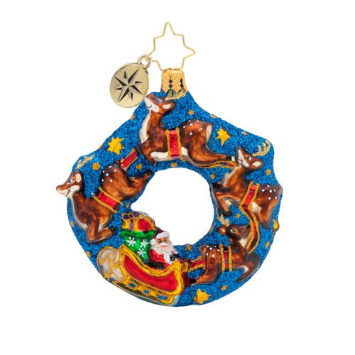 Christopher Radko Santa's Midnight Ride Gem Christmas Ornament, Blue