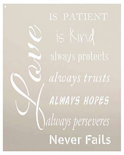 Love Is Patient Kind Stencil 1 Corinthians 13 Scripture - by StudioR12 (13