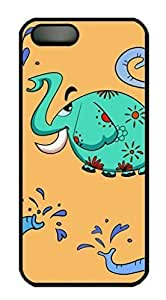 An Elephant Designs For SamSung Galaxy S5 Phone Case Cover PC Material Black Kimberly Kurzendoerfer