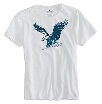 85646e8f3 American Eagle Outfitters Mens Signature T-Shirt (XXL, White):  Amazon.co.uk: Clothing