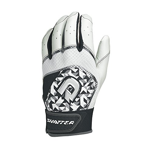 DeMarini Shatter Batting Gloves, Black, Medium, - Batting Adult Glove Away