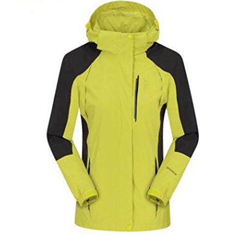 Sezione Giacche Cappotto Di Single Invecchiato Grandi Medio Impermeabile Sottile All'aperto Yellow Autunno Donna Wu Alpinista skin Dimensioni Lai qStAvw0