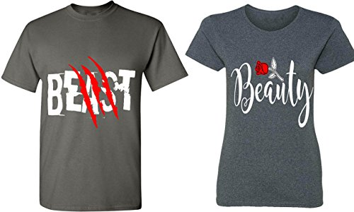 Couples Apparel Beast & Beauty - Matching Couple Shirts - His and Her T-Shirts - Tees