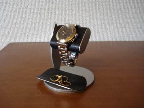 シングルブラックコルク腕時計スタンド ブラックトレイバージョン