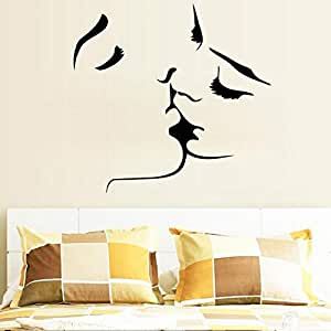 Creative Personalize Kiss DIY Removable Waterproof Wall Sticker