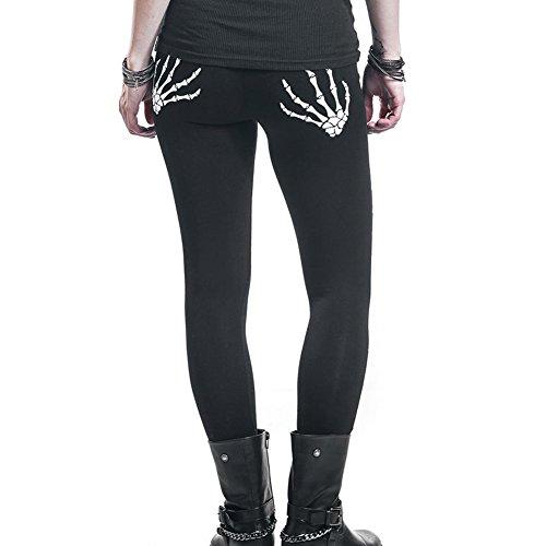 Jeggings Fashion Strappato Casuale Estate Pantaloni Primavera Lunghi 1 Slim Moda Di Per Teschio Nero Donna Modello Testa Buco Rotto xnYq06Fn
