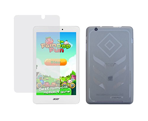 ke TPU Rubber Skin Cover Case + Clear Screen Protector for Acer Iconia Tab 8