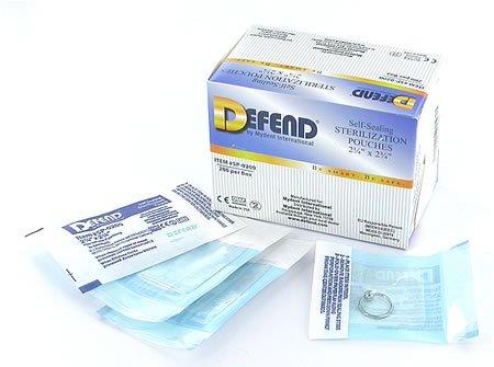 DEFEND - Sterilization Self Sealing Pouches 2.25 x 2.75 200 113616 Us Depot