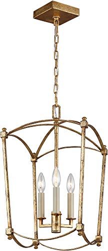Feiss F3321/3ADB Thayer Lantern Candle Chandelier