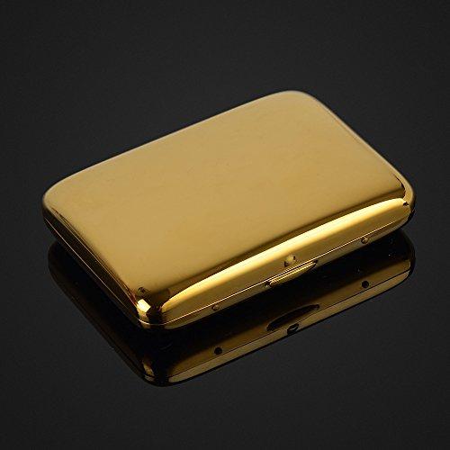 (Pure Copper Plain Gold Plated Cigarette Case Holds 16 Cigarettes)