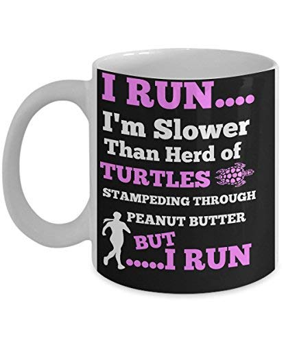 BEST FUNNY GIFTS Runners Running Turtle Mug With Inspirational QuotequotI
