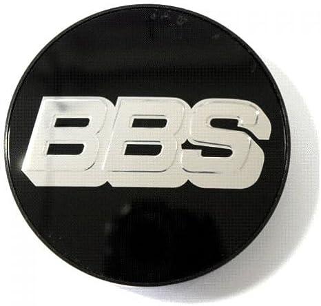 Original Bbs Disque de Symbole Argent-Noir 70,6mm Couvercle Moyeu Roue