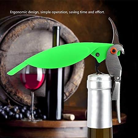 Abridores de vino para loros, sacacorchos multifunción, camareros, abrelatas de vino y cortador de papel de corvina(Verde)