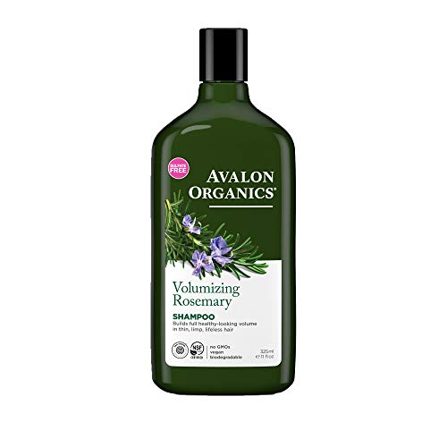 (Avalon Organics Shampoo, Volumizing Rosemary, 11 Fluid Ounce (Pack of 2))