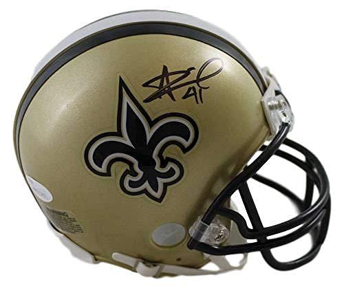 Alvin Kamara Autographed New Orleans Saints Mini Helmet JSA
