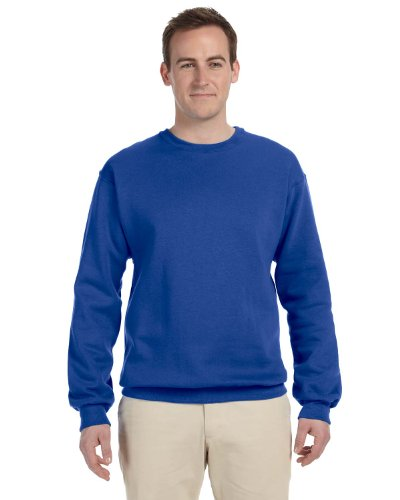 Jerzees Men's NuBlend Crew Neck Sweatshirt, Royal, Large (Crewneck People Sweatshirt)