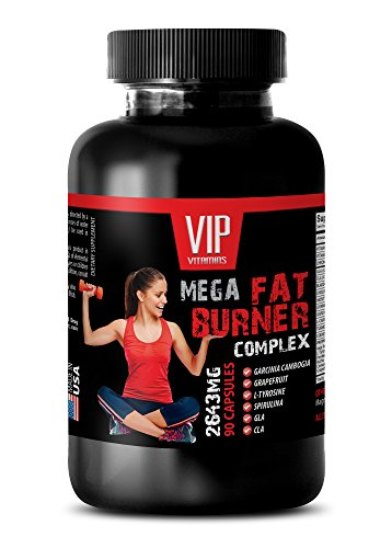metabolism accelerator - MEGA FAT BURNER COMPLEX - 2645MG - weight management vitamins - 1 Bottle (90 Capsules) (Best Fat Burner In India)