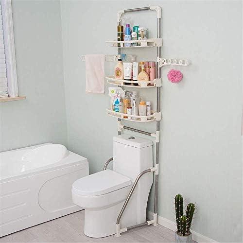 BXU-BG キッチン&バスルームのための服レール付きトイレ独立型多機能浴室スペースセーバー主催ストレージ3レイヤバスルームオーガナイザーオーバーシャワー