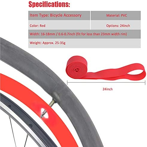 2 Roll Puncture-proof MTB Mountain Bicycle Tire Lining Inner Protection Pad DEN