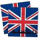 20serviettes Grande-Bretagne * pour fêtes et Anniversaire de DH-Konzept//Party Anniversaires UK Go Angleterre Union Jack Napkins Serviettes en papier