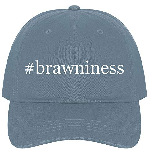 The Town Butler #Brawniness - A Nice Comfortable Adjustable Hashtag Dad Hat Cap, Light Blue, One Size