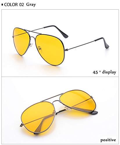 Gafas Nocturna Gafas Hombres la visión de la Aire Mujeres Coche Lente Lentes Sol de Libre conducción Manera de Conductores Amarilla al Aprigy Los de Negro Las de Gafas dorado Las de del qFwExIpFd