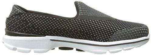 Skechers Go Walk 3 Go Knit - Zapatillas de deporte Mujer negro/blanco