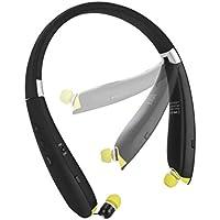 Wireless Sports Headphone, AIVANT BT 4.1 CVC 6.0 Noise Reduction Sweat-proof Foldable Neckband with Retractable Earbuds Stereo Wireless Headphone/Headset