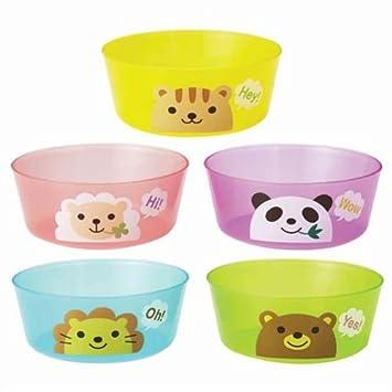 Set plato fiesta plástico colores con animales