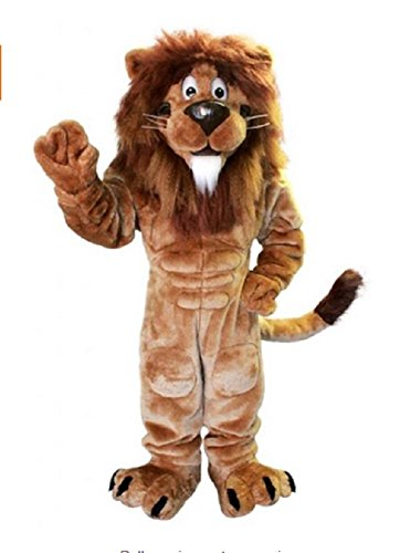 Deluxe Lion Mascot Costume Adult Size for Height 5'11