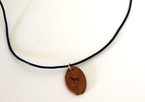 Labrador Retriever Dog Silhouette Necklace Pendant Jewelry Ceramic Pottery Oval (Pottery Silhouette)