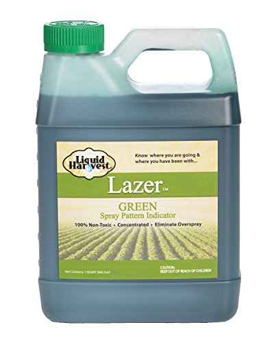 Liquid Harvest Lazer Green Concentrated Spray Pattern Indicator - 1 Quart (32 Ounces) - Perfect Weed Spray Dye, Herbicide Dye, Fertilizer Marking Dye, Turf Marker and Herbicide (32 Ounce Fertilizer)
