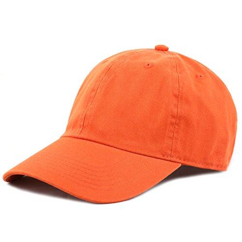 the-hat-depot-300n-washed-cotton-low-profile-baseball-cap-orange