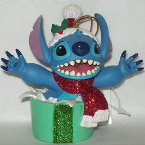 Disney Holiday Stitch Christmas Present Ornament - Disney Theme Parks Exclusive & Limited Availability Disney Theme Park Christmas Ornaments