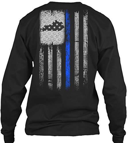 (Kentucky Police M - Black Long Sleeve Tshirt - Gildan 6.1oz Long Sleeve Tee)