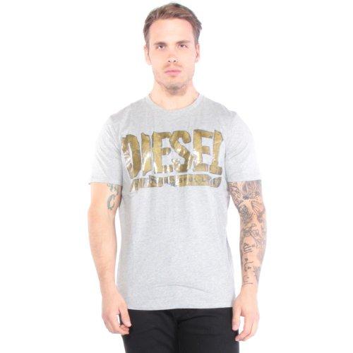 Diesel Herren T-Shirt Grau Heather Gris