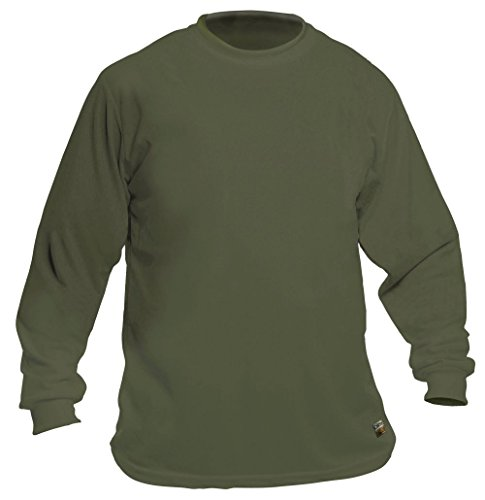 Perimeter Guard - Bright High Visibility Long Sleeve T-Shirt: Construction Safety Hunting Work and Outdoor T Shirts with Perimeter Guard Insect Repellent - Green Large