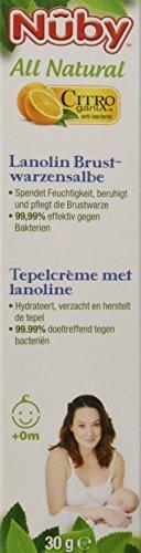 Nuby All Natural Lanolin Brustwarzensalbe (1 x 30 ml)