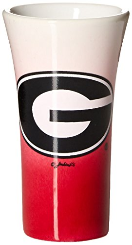 NCAA Georgia Bulldogs Ceramic Fade Shotglass, One Size, Multicolor (Shot Glass Georgia)