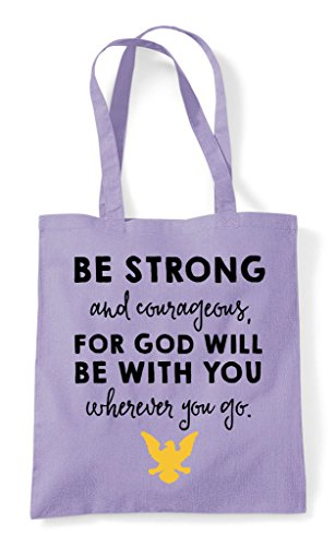God Will Strong Shopper Lavender Be And With For Tote Courageous Bag You cWIcXf7q