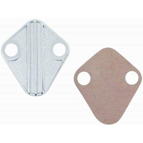 (Chrome Die-Cast Bb Chevy 396-454) Fuel Pump Block-Off Plate With Gasket ()
