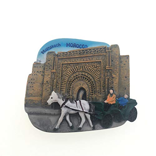 Bahia Palace Morocco Fridge Magnet 3D Resin Handmade Craft Tourist Travel City Souvenir Collection Letter Refrigerator Sticker