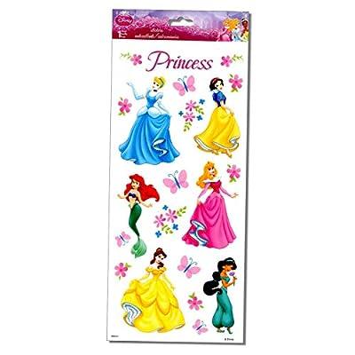 Disney Princess Stickers - Large 5.5X12 Sheet of Specialty Disney Princess Glitter Stickers: Arts, Crafts & Sewing